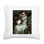 Ophelia / Shelie tri Square Canvas Pillow