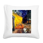 Cafe / Sheltie Square Canvas Pillow