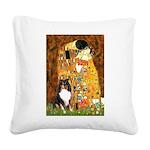 Kiss/Tri Color Sheltie Square Canvas Pillow