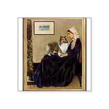 "Whistler's / Sheltie Square Sticker 3"" x 3"""