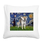 Starry - Shiba Inu (std) Square Canvas Pillow