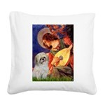 Angel3/Shih Tzu (P) Square Canvas Pillow