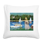 Bassin/Shih Tzu (P) Square Canvas Pillow