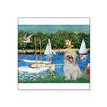Bassin/Shih Tzu (P) Square Sticker 3