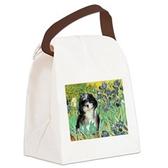 Irises / Shih Tzu #12 Canvas Lunch Bag