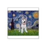Starry-Siberian pup Square Sticker 3