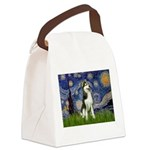 Starry Night & Husky Canvas Lunch Bag