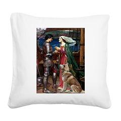Tristan & Isolde Husky Square Canvas Pillow