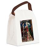 Tristan & Isolde Husky Canvas Lunch Bag