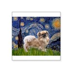 Starry / Tibetan Spaniel Square Sticker 3