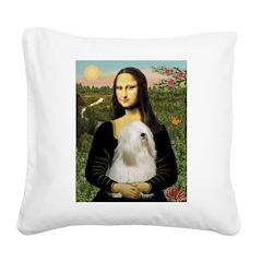 Mona / Tibetan T Square Canvas Pillow