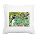 Irises / Toy Fox T Square Canvas Pillow