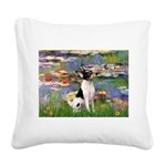 Lilies / Toy Fox T Square Canvas Pillow