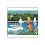 Sailboats / Vizsla Square Sticker 3