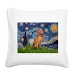 Starry Night / Vizsla Square Canvas Pillow