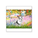 Garden / Corgi (bm) Square Sticker 3