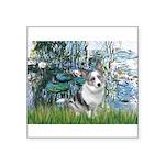 Lilies (#1) - Corgi (Bl.M) Square Sticker 3