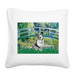 Bridge / Welsh Corgi (Bl.M) Square Canvas Pillow