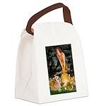 Fairies & Corgi Canvas Lunch Bag