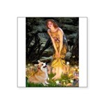 Fairies & Corgi Square Sticker 3