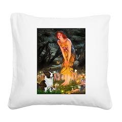 Fairies / Welsh Corgi Square Canvas Pillow