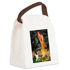 Fairies / Welsh Corgi Canvas Lunch Bag