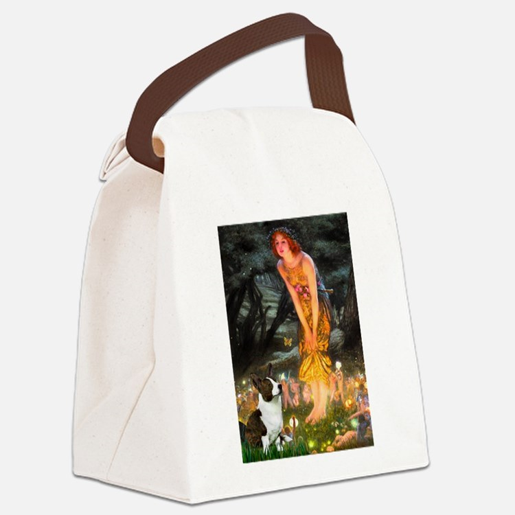 Fairies / Welsh Corgi Canvas Lunch Bag