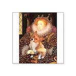Queen / Welsh Corgi Square Sticker 3