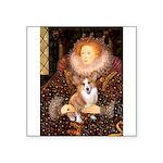 The Queen's Corgi Square Sticker 3