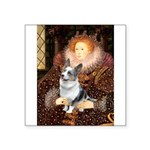 The Queen's Corgi (Bl.M) Square Sticker 3