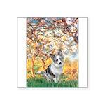 Spring - Corgi (Bl.M) Square Sticker 3