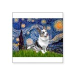 Starry Welsh Corgi (Bl.M) Square Sticker 3