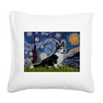 Starry Night / Welsh Corgi(bi Square Canvas Pillow