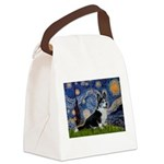 Starry Night / Welsh Corgi(bi Canvas Lunch Bag