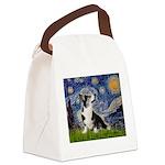 Starry Night / Welsh Corgi Canvas Lunch Bag