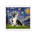 Starry Night / Welsh Corgi Square Sticker 3