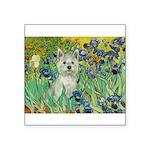 Irises / Westie Square Sticker 3
