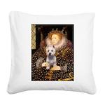 Queen Liz & Her Westie Square Canvas Pillow