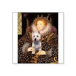 Queen Liz & Her Westie Square Sticker 3