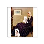 Whistlers Mom/2 Westies Square Sticker 3