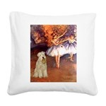 Dancer1/Wheaten T (7) Square Canvas Pillow