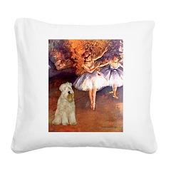 Dancer1/Wheaten T (7) Square Canvas Pillow