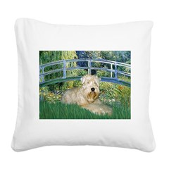 Bridge & Wheaten Square Canvas Pillow