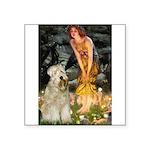 Fairies & Wheaten Terrier Square Sticker 3