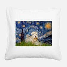 Starry / Wheaten T #1 Square Canvas Pillow