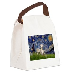 Starry Night Whippet Canvas Lunch Bag