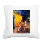 Cafe & Whippet Square Canvas Pillow