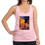 Cafe & Whippet Racerback Tank Top