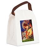 Mandolin Angel / Yorkie (17) Canvas Lunch Bag