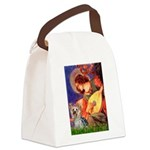 Mandolin Angel & Yorkie (T) Canvas Lunch Bag